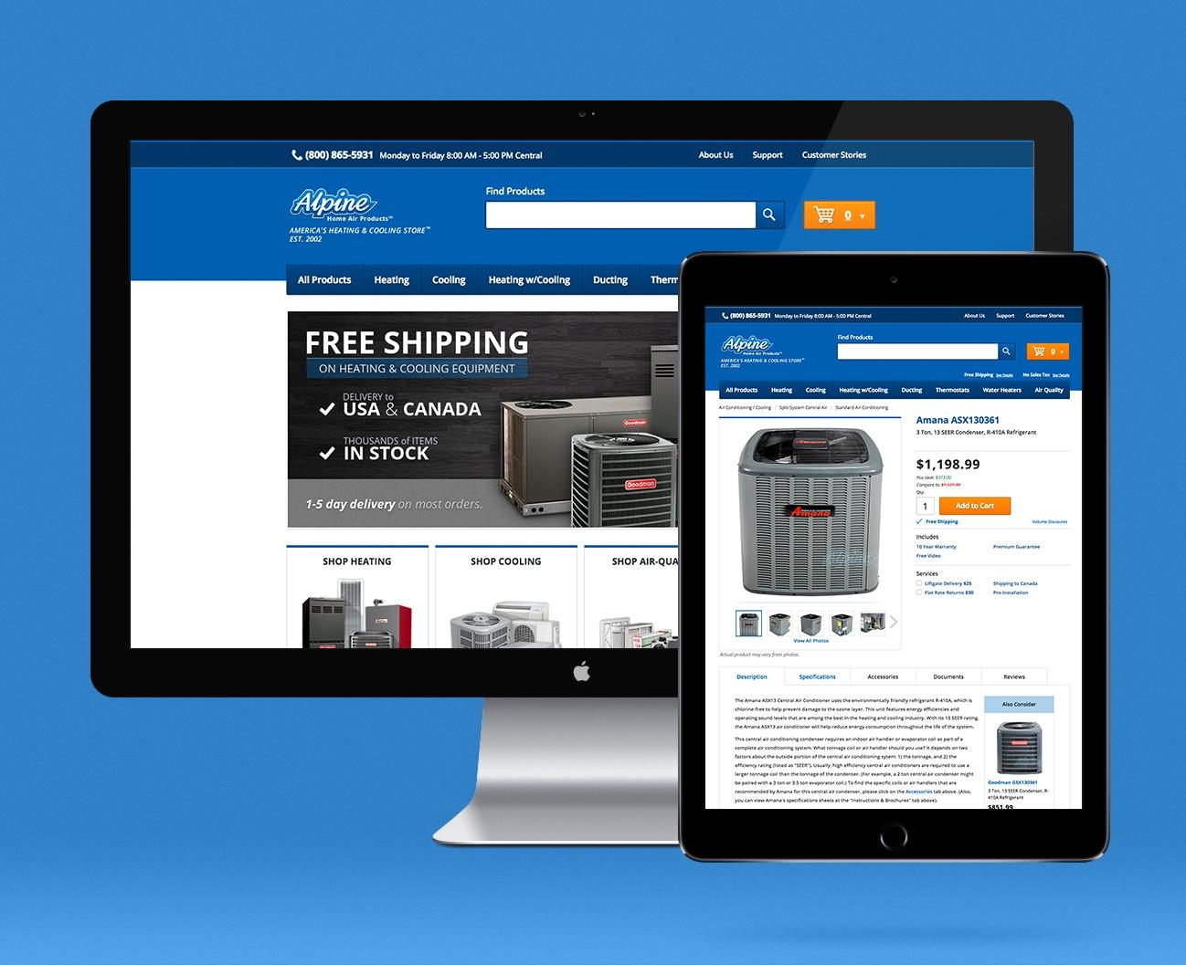 Alpine home air web design create the universe for Alpine home design