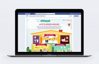 """LG Facebook """"Life's Good House"""" Campaign"""