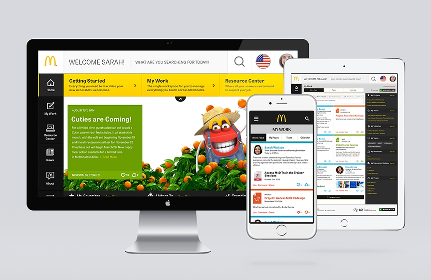 McDonald's MCD Access Intranet Website Design
